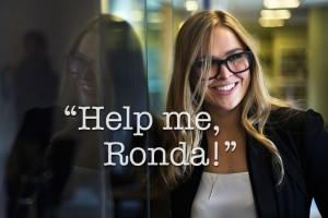 Bonk lube will help Ronda